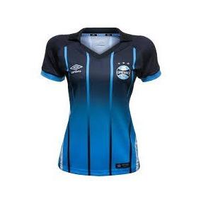 Camiseta Feminina Grêmio Azul Pronta Entrega/ Personalizada