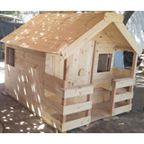 Casita Madera Para Niños Casa Mangrullo Jardin Juego 2x2.4
