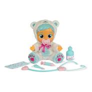 Boneca Que Chora Kristal Com Acessorios Cry Babies Brinquedo