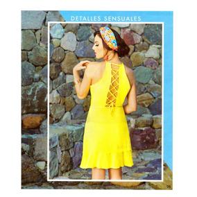 Ropa Mujer Vestido Amarillo Espalda Descubierta Cp18 -97