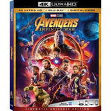Avengers Infinity War 4k Ultra Hd + Blu-ray Import En Stock