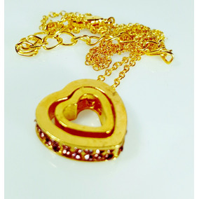 Collar Del Amor Color Oro Y Brillantes Envio Gratis.