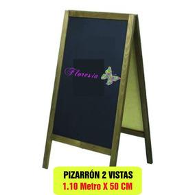 Pizarrón Cafetería Restaurante 1.10 X 50 Doble Vista, Pino