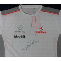 Playera Firmada Sergio Checo Perez Mclaren Mercedes F1 Boss