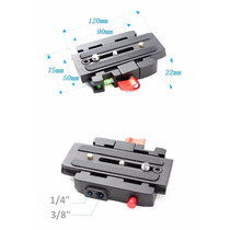 Plate Quick Release Para Manfrotto 501 500ah 701hdv 503hdv