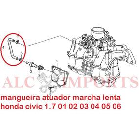 Mangueira Atuador Marcha Lenta Honda Civic 01 02 03 04 05 06