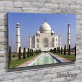 Cuadros Lienzo Taj Mahal Fontana Di Trevi Monumentos 90x60