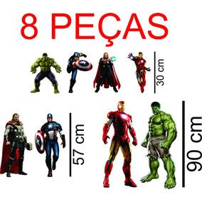 8 Kit Display De Chão Os Vingadores Personalizado 8 Unidade