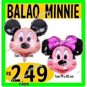 Balão Metalizado Mickey Ou Minnie Cabeção Grande