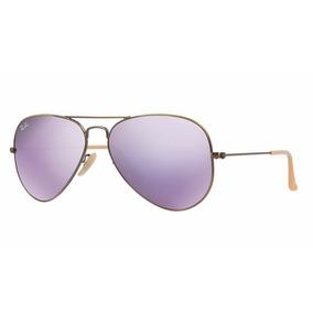 Oculos Rayban Original Aviador Rb3025 167/4k Purple