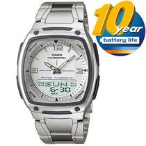 Relógio Masculino Casio Digital, Pulseira Aço - Aw-81d-7avdf