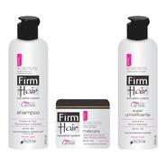 Kit Linha Cachos Reconstrução Firm Hair 3 Produtos