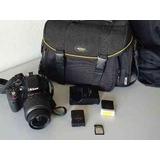 Camara Nikon D5200 Con Bolso Cargador Y Protector De Lente