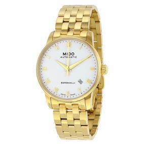 Relógio Mido Swiss Made Dourado Automático M86003261