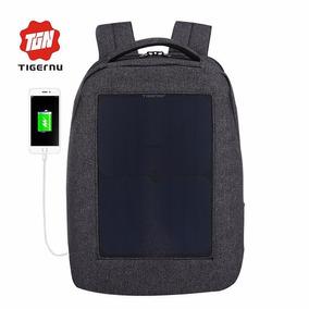 Mochila Bag Pack Tigernu Celda Solar Laptop 14 Candado Rega