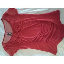 Blusa Tela De Algodon Color Rojo. Talla Unica