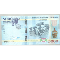 Burundi 5000 Francos 2015
