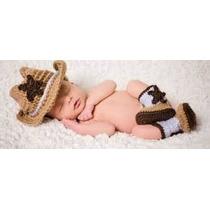 Sombrero Y Botas Vaquero Para Niño Y Niña Tejido A Crochet