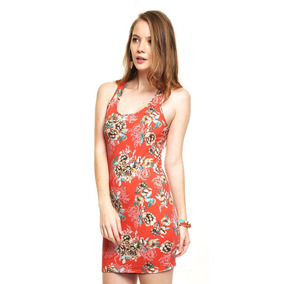 Vestido Corto Ajustado Floreado Mca Pink Connection, Talla M