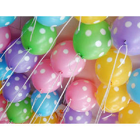 paquete globos latex metalico todos los eventos
