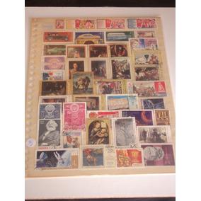 Selos Postais Antigos - Lote Com 143 Selos Do País Da Russia