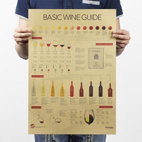 Pôster Guia Básico De Vinhos Basic Wine Guide Decoração Bar