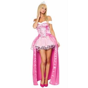 Fantasia Bela Adormecida Princesa Aurora Luxo Adulto M