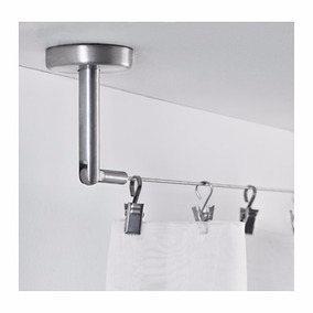 Ikea- Tensor Acero Inox. P/ Cortinas 5m Pared/techo Dignitet