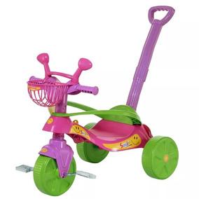Triciclo, Velotrol Reforçado Aro Proteção Bebê Rosa/verm