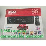 Auto Estereo Marca Boss Bluetooth Carat.desmontable Llamadas
