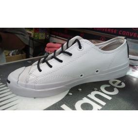 Tennis Converse Blancas Zapato En Cuero