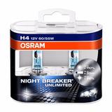 Kit 2 Lamparas H4 + 2 H11 Osram Night Breaker Unlimited