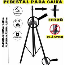 Pedestal Suporte Tripé P/caixa De Som Regulável E Portátil