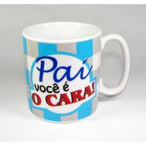Trio Caneca Dia Dos Pais - Acompanha Caixa Presente Mdf