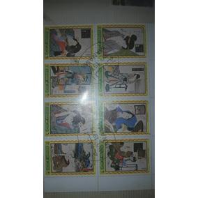 Selos Postais De 77 Carimbados Em Seus Países De Origen