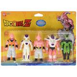 Dragon Ball Z Set De 5 Figuras Suaves, Majin Boo, Frieza, Ma