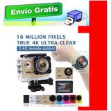Camara Video 4k Wifi, 16mpx, 30 Mts + Control Y Accesorios