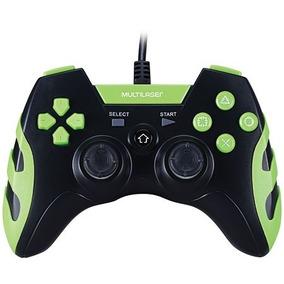 Controle Ps3/ps2/pc Preto/verde Js081 - 76289