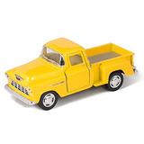 Amarillo Chevy 1955 Stepside Pick-up Die Cast De Colección D