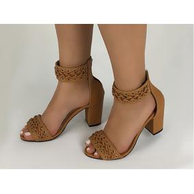 Zapato Mujer Sandalia De Tacon Altura Quiebre 5 Y 1/2