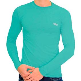 Camiseta Térmica Verde Jade Manga Longa Masculina