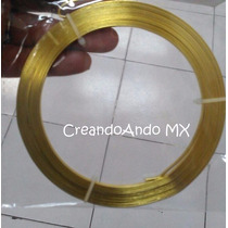 Alambre Bisuteria Aluminio Plano 3.5 Mm X 5 Mts Color Dorado