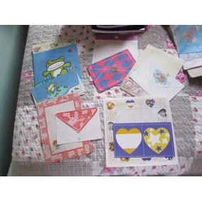 Lote 3: Com 5 Papeis De Carta Com Envelopes