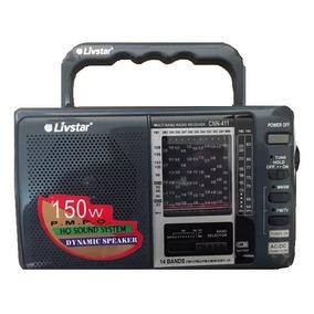 Radio Am Fm Sw Antigo Retro Com 14 Bandas Pilhas Ou 110v