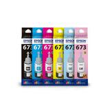 Tinta Epson 673 L1800, L805, L800, L810, L850 Pack