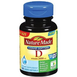 Nature Made Vitamin D 2000iu, 180 Cápsulas Blandas