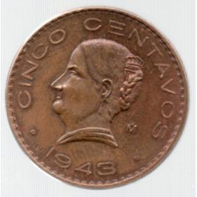 Moneda Antigua Cinco Centavos Josefa Ortiz Grande 1943 C13