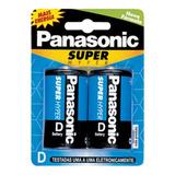 Pila D Panasonic X2 Unidades Carbon 1,5v Super Hyper Nuevas