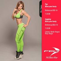 Coordinado De Legging Y Top,moda Colombiana,fitness, Gym