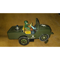 Vint.retro Juguete Antiguo Jeep Militar Lata.... Japón